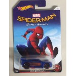HOT WHEELS - MARVEL SUPERHERO CHARACTER CAR POWER RAGE spider man the homecoming single vehicle package DWD17