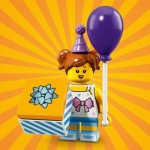 "LEGO MINIFIGURES 71021 06 PURPLE BALLOON GIRL. SERIE N° 18 "" PARTY """