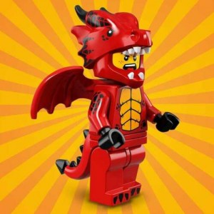 """LEGO MINIFIGURES 71021 07 RED DRAGON SUIT GUY SERIE N° 18 """" PARTY """""""