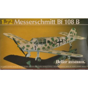 plastic model kit scale 1 : 72 HELLER 80229 MESSERSCHMITT BF 109 K-4 new in open and damaged box