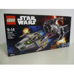 LEGO STAR WARS 75150 VADER'S TIE ADVANCED VS A WING STARFIGHTER