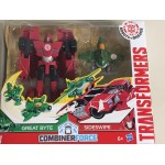 "TRANSFORMERS 2 PACK ACTION FIGURES 6"" - 15 cm SIDESWIPE & GREAT BYTE Robots in disguise Combiner force activator Hasbro C0905"