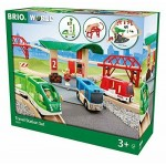 BRIO 33627 TRAVEL STATION SET WOODEN RAILWAY TRACK SYSTEM