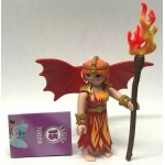 PLAYMOBIL FI?URES 70026 SERIE 15 07 SHE DEVIL WINGED FIRE KNIGHT