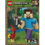 LEGO MINECRAFT 21148 STEVE BIG FIG WITH PARROT