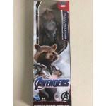 "MARVEL AVENGERS ACTION FIGURE 12 "" - 30 cm ROCKET RACCOON HASBRO E3917 POWER FX TITAN HERO SERIES"