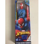 "MARVEL ACTION FIGURE 12 "" - 30 cm BLACK SUIT SPIDER MAN HASBRO E2344 POWER FX TITAN HERO SERIES"