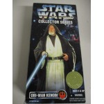 "STAR WARS 12"" ACTION FIGURE OBI WAN KENOBI US market edition Collector series"