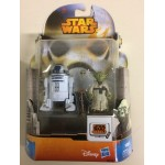 """STAR WARS 3.75"""" - 9 cm ACTION FIGURE R2 D2 - YODA double pack Hasbro b0130 MS 16"""