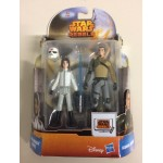"STAR WARS 3.75"" - 9 cm ACTION FIGURE EZRA BRIDGER ( CADET ) - KANAN JARRUS double pack Hasbro MS 18"