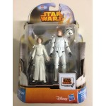 "STAR WARS 3.75"" - 9 cm ACTION FIGURE PRINCESS LEIA - LUKE SKYWALKER ( stormtrooper disguise ) double pack Hasbro MS 20"