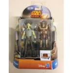 "STAR WARS 3.75"" - 9 cm ACTION FIGURE CIKATRO VIZAGO - IG-RM double pack Hasbro MS 09"