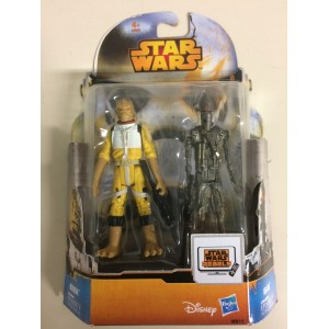 """STAR WARS 3.75"""" - 9 cm ACTION FIGURE BOSSK - IG-88 double pack Hasbro MS 11"""