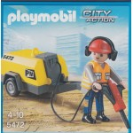 PLAYMOBIL CITY ACTION 5472 CONSTRUCTION WORKER WITH JACK HAMMER